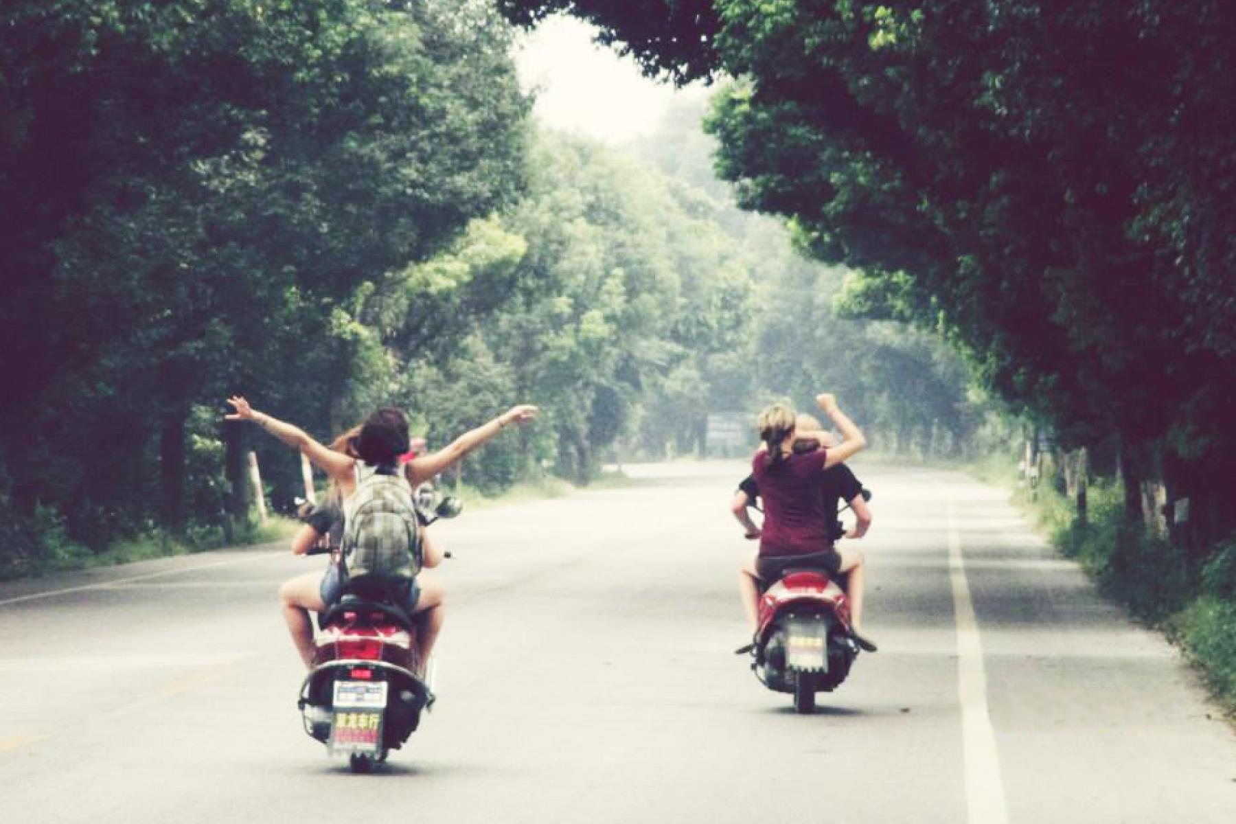 Bike ride in China